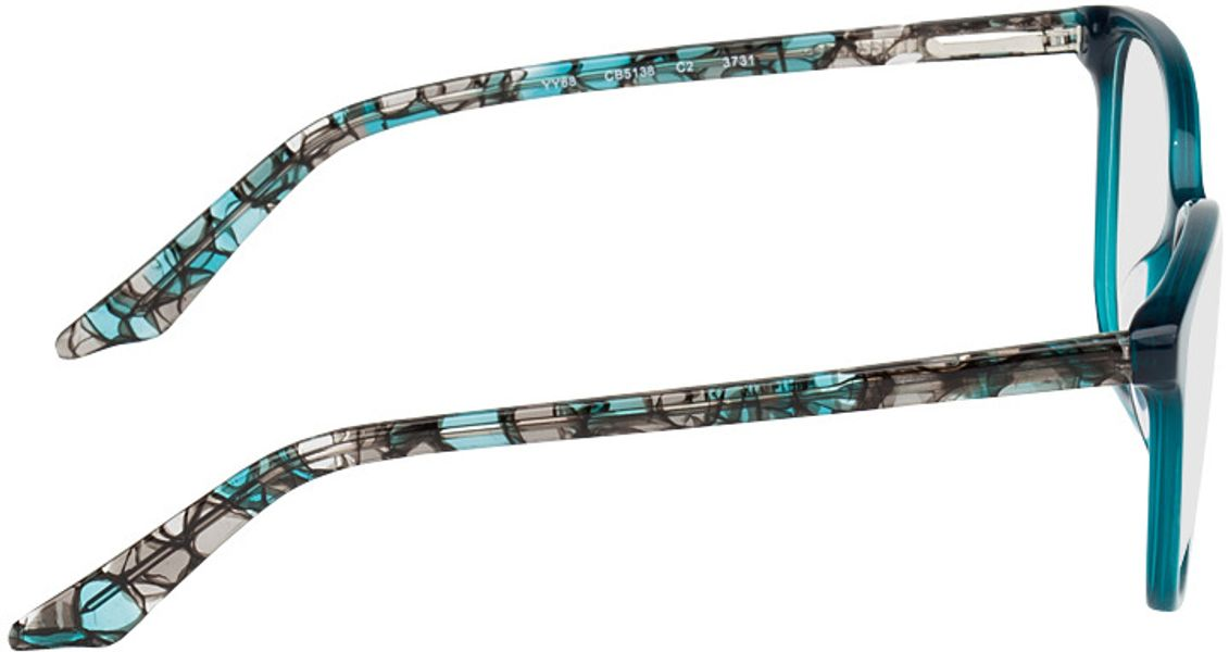 Picture of glasses model Dinant blue/black in angle 90