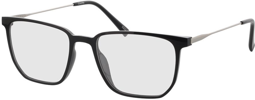Picture of glasses model Charles-schwarz/matt silber in angle 330