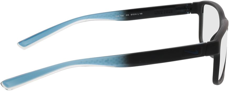 Picture of glasses model Nike NIKE 7092 014 57-14 in angle 90