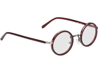 Brille Eupen-rot-meliert/anthrazit