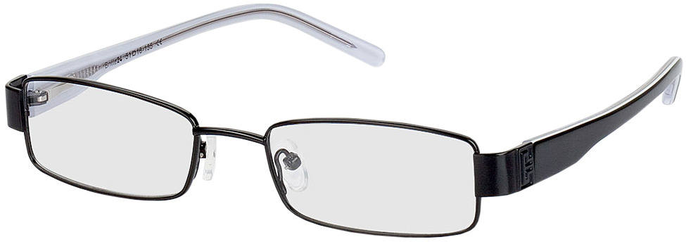 Picture of glasses model Lucca black in angle 330
