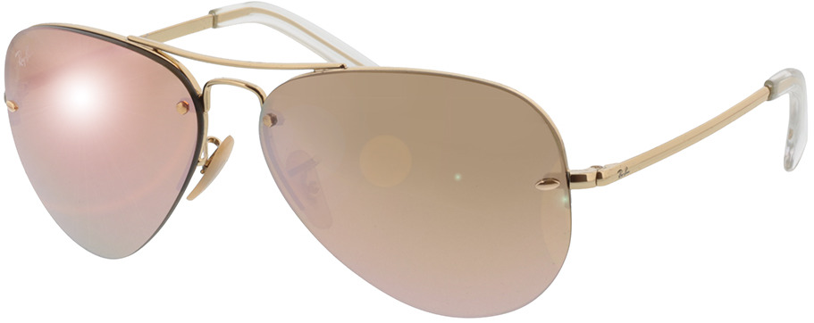 Picture of glasses model Ray-Ban RB3449 001/2Y 59-14