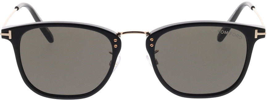 Picture of glasses model Tom Ford FT0672 01A in angle 0