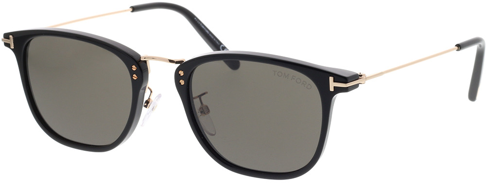 Picture of glasses model Tom Ford FT0672 01A in angle 330