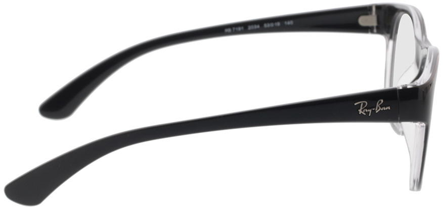 Picture of glasses model Ray-Ban RX7191 2034 53-19 in angle 90