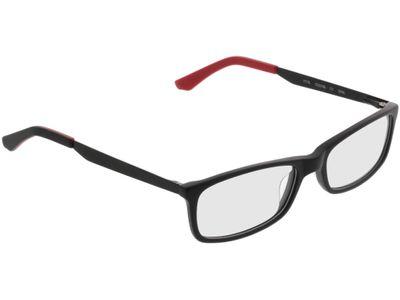Brille Kannur-matt schwarz/rot