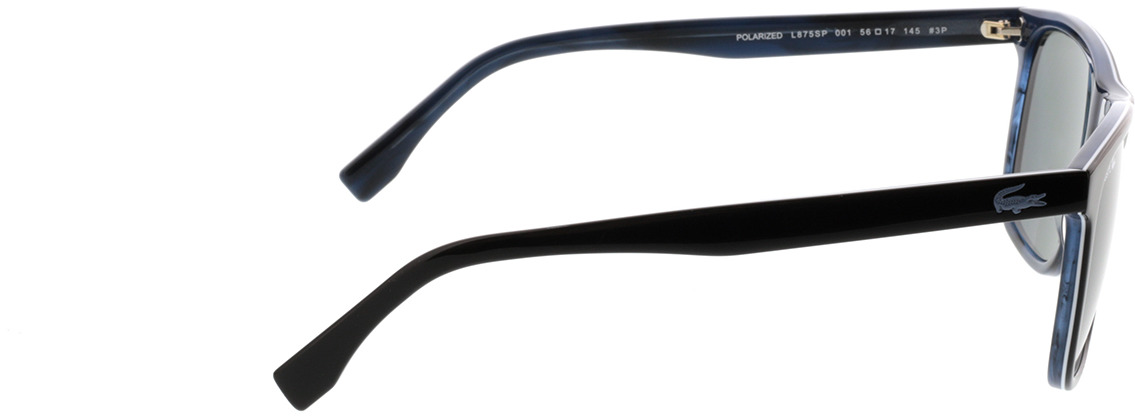 Picture of glasses model Lacoste L875SP 001 56-17 in angle 90