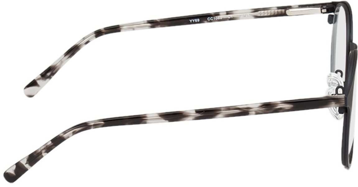 Picture of glasses model Fredericia-schwarz-meliert in angle 90