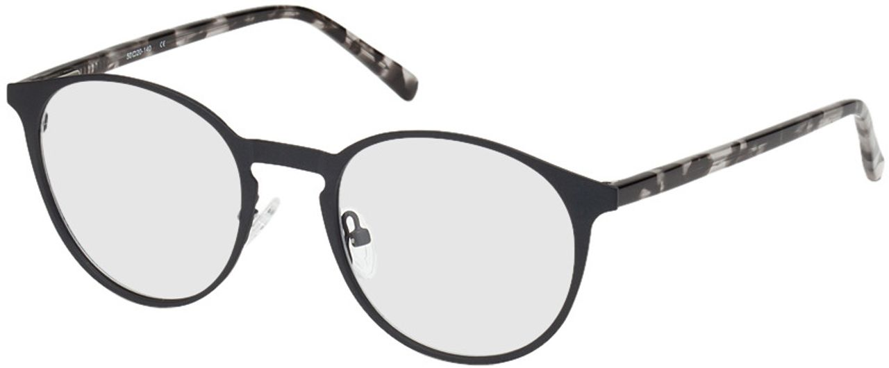 Picture of glasses model Fredericia-schwarz-meliert in angle 330