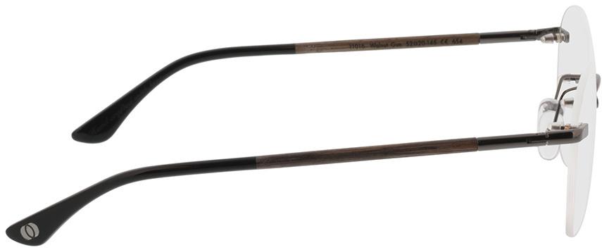 Picture of glasses model Wood Fellas Optical Ammil walnut/gun shiny 52-20 in angle 90
