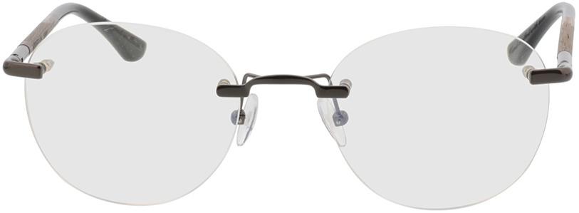 Picture of glasses model Wood Fellas Optical Ammil walnut/gun shiny 52-20 in angle 0