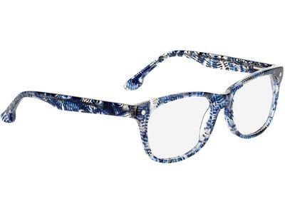 Brille Franca-blau gemustert