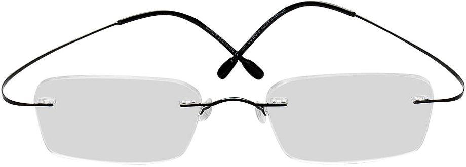 Picture of glasses model Mackay-schwarz in angle 0