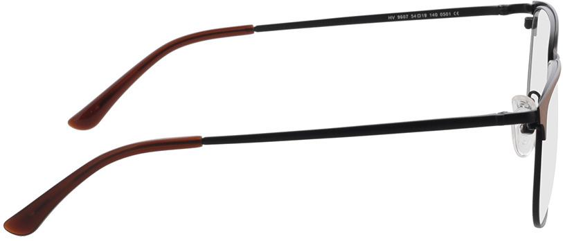 Picture of glasses model Murphy-matt schwarz/matt braun in angle 90