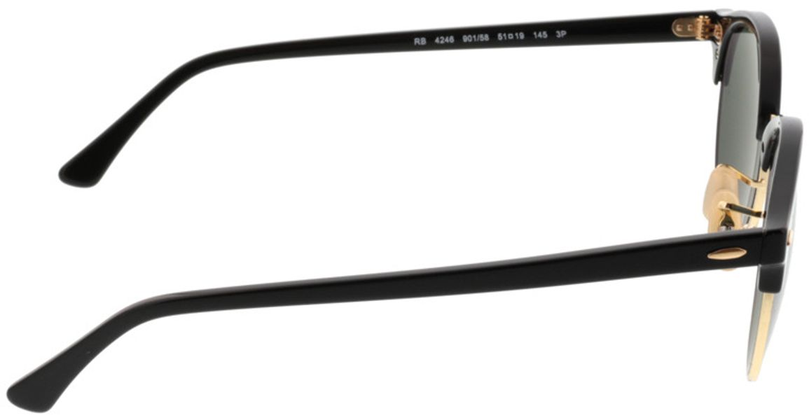 Picture of glasses model Ray-Ban Clubround RB4246 901/58 51-19 in angle 90