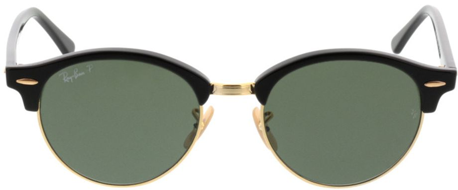 Picture of glasses model Ray-Ban Clubround RB4246 901/58 51-19 in angle 0