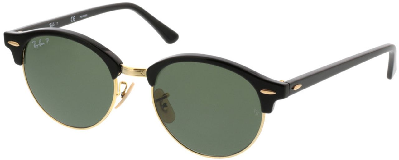 Picture of glasses model Ray-Ban Clubround RB4246 901/58 51-19 in angle 330