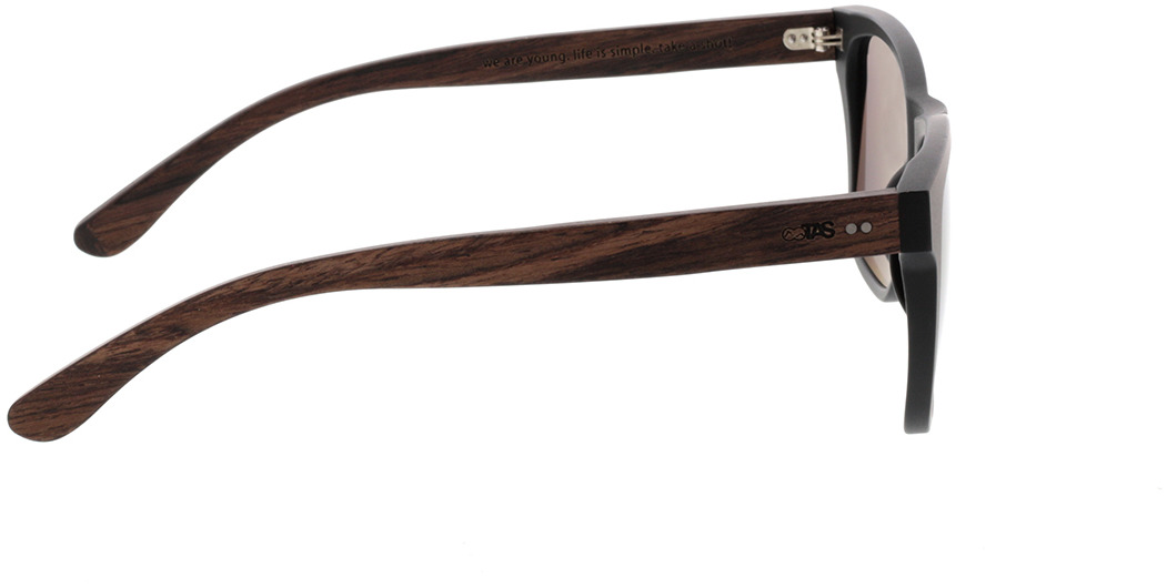 Picture of glasses model TAKE A SHOT Iron Heinrich: Walnussholz 53-19 in angle 90