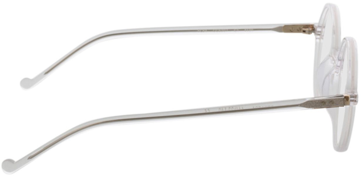 Picture of glasses model Torello-transparent in angle 90