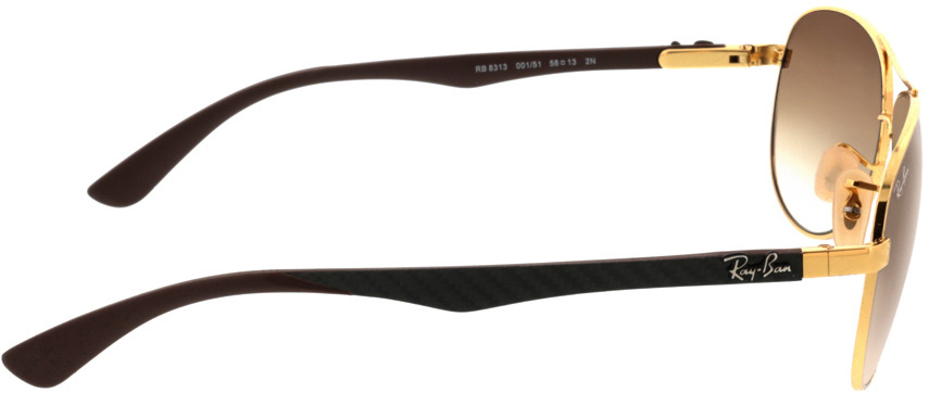 Picture of glasses model Ray-Ban Carbon Fibre RB8313 001/51 58 13 in angle 90