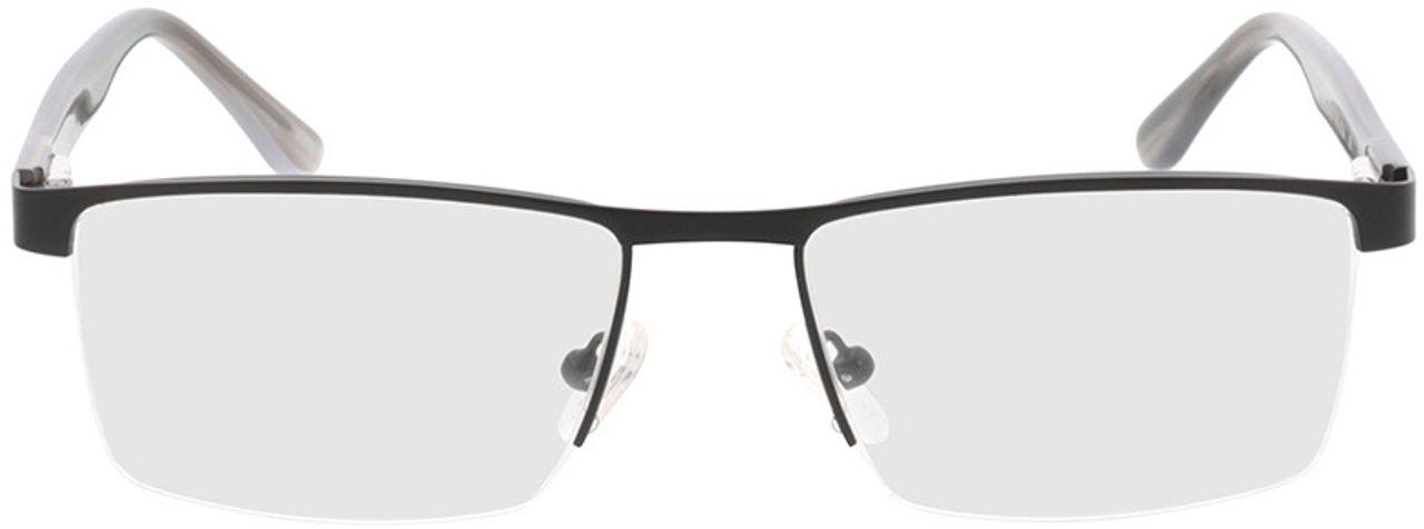 Picture of glasses model Daxton-matt schwarz/grau horn in angle 0