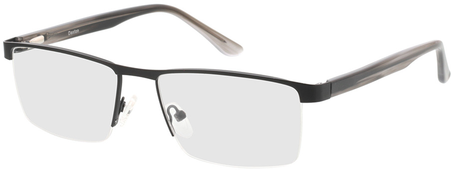 Picture of glasses model Daxton-matt schwarz/grau horn in angle 330