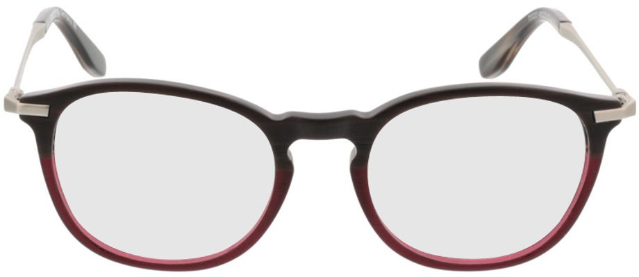 Picture of glasses model Comma70020 72 braun/rot-meliert/silber 49-20 in angle 0