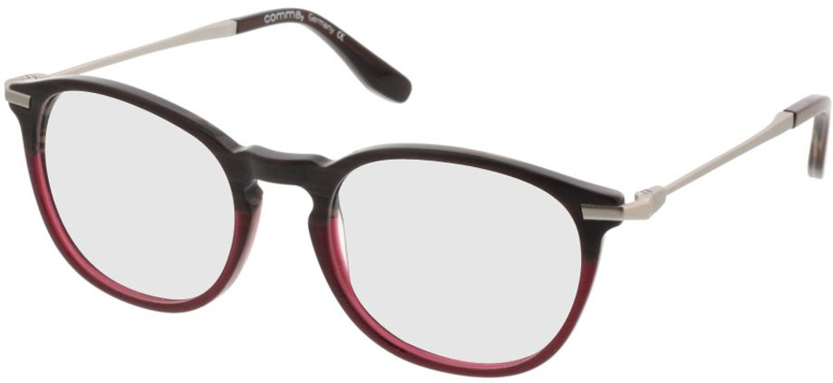 Picture of glasses model Comma70020 72 braun/rot-meliert/silber 49-20 in angle 330