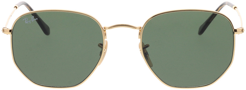 Picture of glasses model Ray-Ban Hexagonal RB3548N 001 54-21 in angle 0