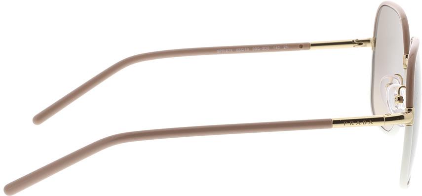Picture of glasses model Prada PR 67XS 09G3D0 55-19 in angle 90