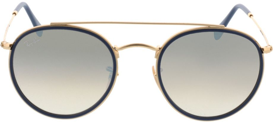 Picture of glasses model Ray-Ban Round Double Bridge RB3647N 001/9U 51-22 in angle 0