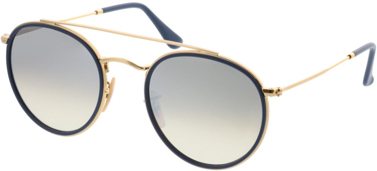 Picture of glasses model Ray-Ban Round Double Bridge RB3647N 001/9U 51-22 in angle 330