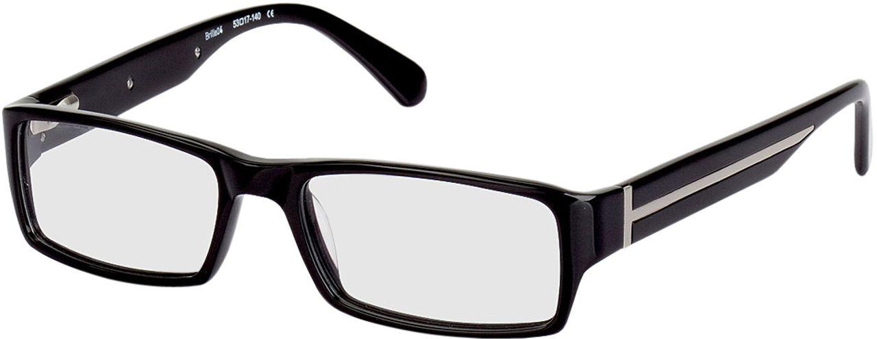 Picture of glasses model Navan-black-silver in angle 330