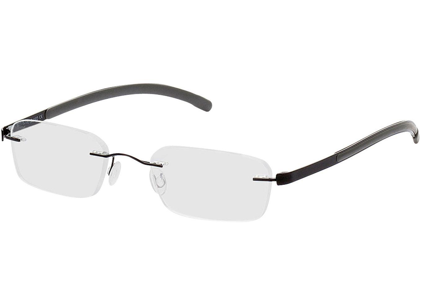 1630-singlevision-0000 Welkom-schwarz/grau Gleitsichtbrille, Randlos, Dünn Brille24 Collection