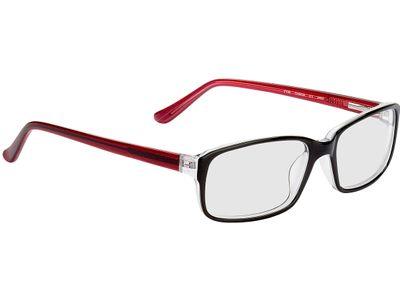 Brille Glasgow-schwarz/rot