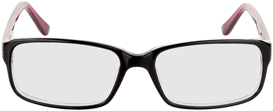 Picture of glasses model Glasgow-schwarz/rot in angle 0