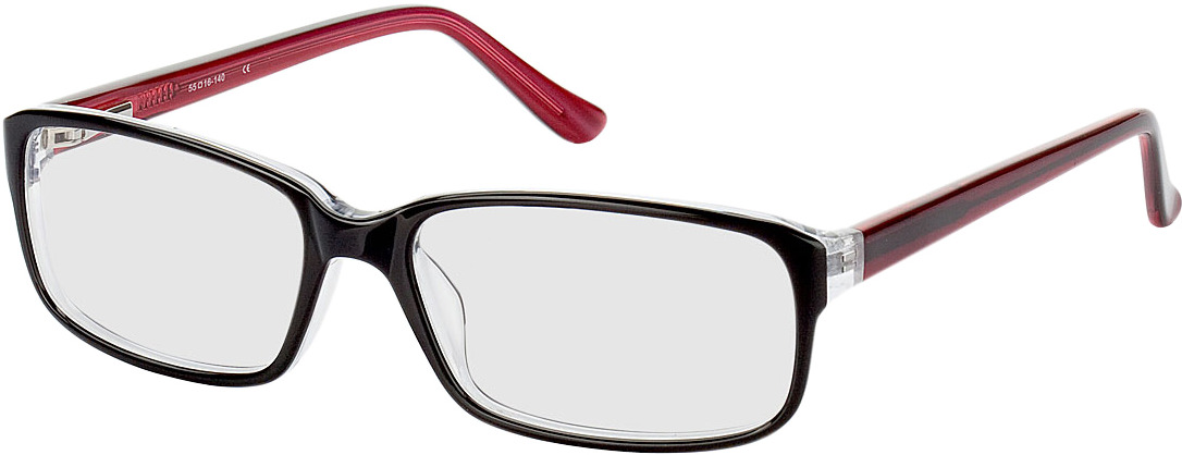Picture of glasses model Glasgow-schwarz/rot in angle 330