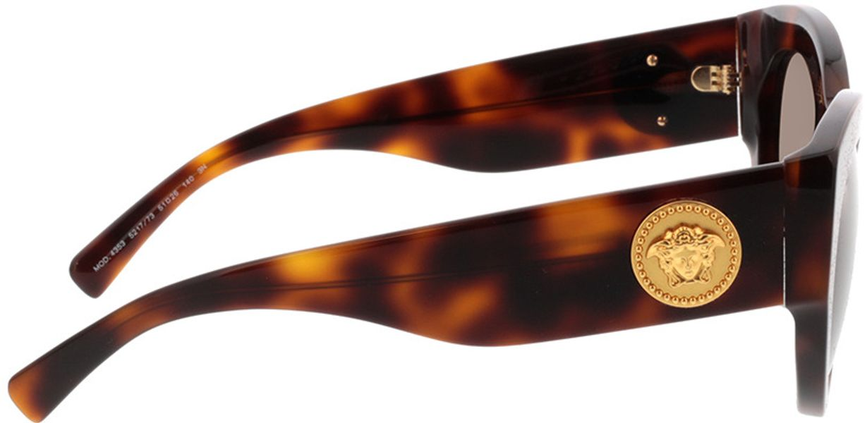 Picture of glasses model Versace VE4353 521773 51-26 in angle 90