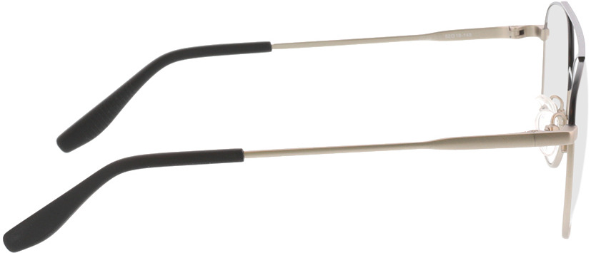 Picture of glasses model Alerio-matt schwarz matt silber in angle 90