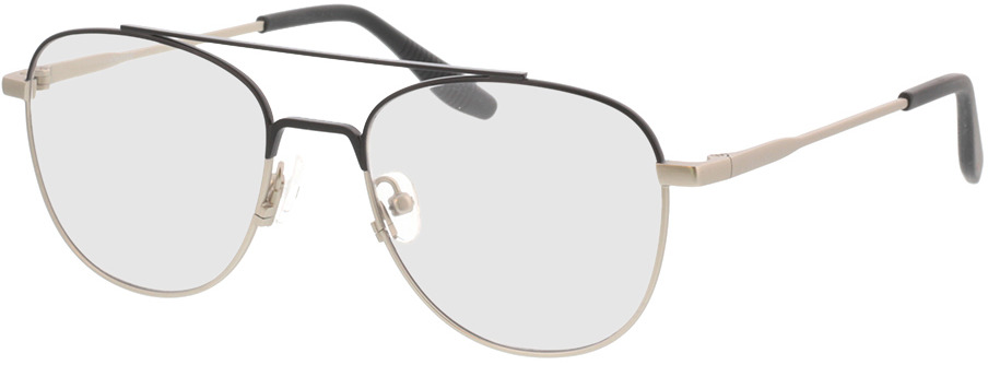 Picture of glasses model Alerio-matt schwarz matt silber in angle 330
