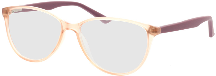 Picture of glasses model Lelia-pink transparent/lila in angle 330