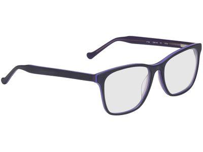 Brille Napier-schwarz/lila