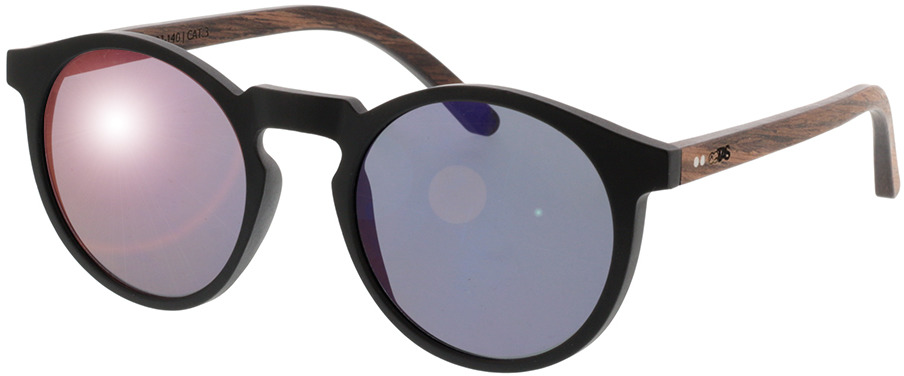 Picture of glasses model TAKE A SHOT Nepomuk: Walnussholz 49-21 in angle 330