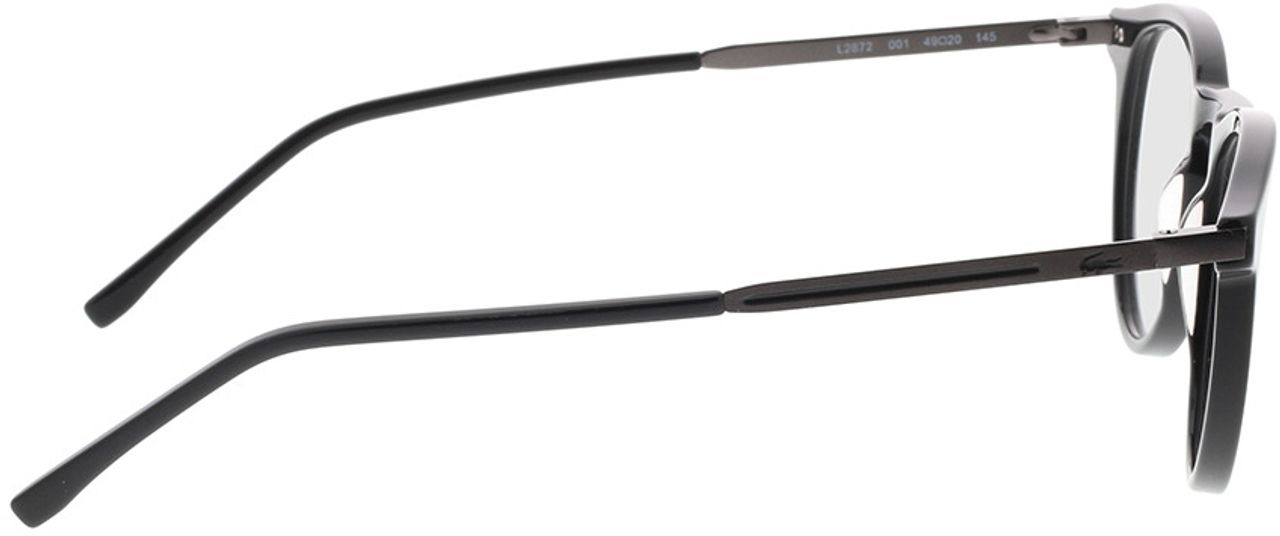 Picture of glasses model Lacoste L2872 001 49-20 in angle 90