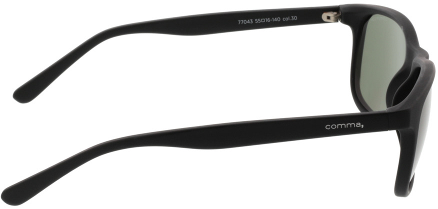 Picture of glasses model Comma, 77043 30 schwarz 55-16 in angle 90
