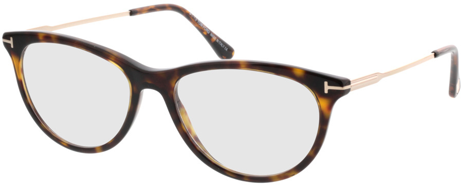 Picture of glasses model Tom Ford FT5509 052 in angle 330