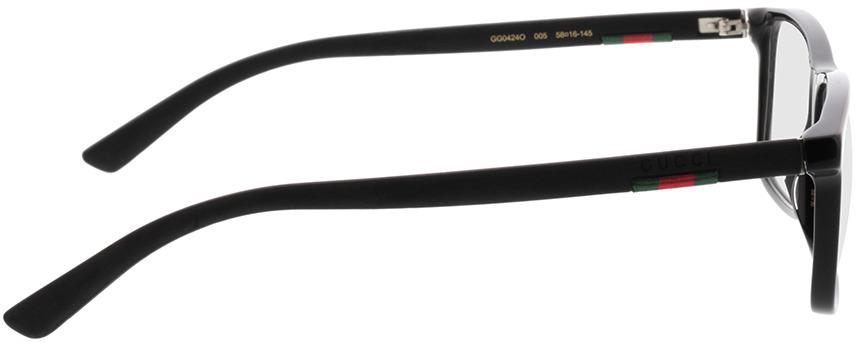 Picture of glasses model Gucci GG0424O-005 58-16 in angle 90