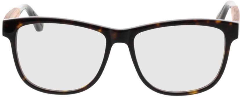 Picture of glasses model Wood Fellas Optical Wildenau zebrano 54-15 in angle 0
