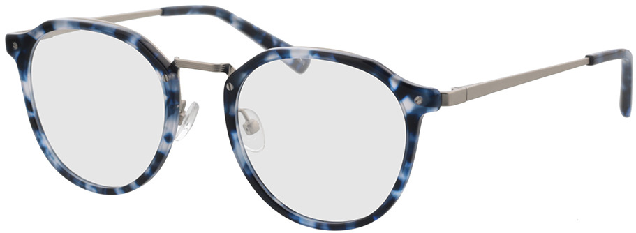 Picture of glasses model Juno-blau-meliert in angle 330