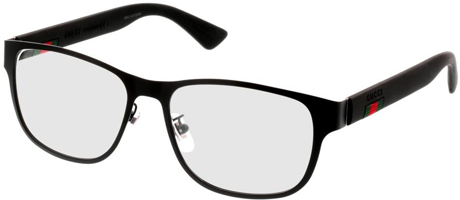Picture of glasses model Gucci GG0013O-001 55-16 in angle 330